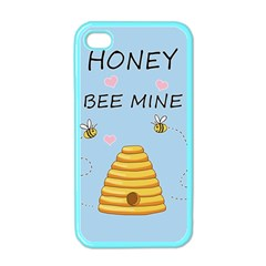 Bee Mine Valentines Day Apple Iphone 4 Case (color) by Valentinaart