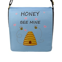 Bee Mine Valentines Day Flap Messenger Bag (l)  by Valentinaart