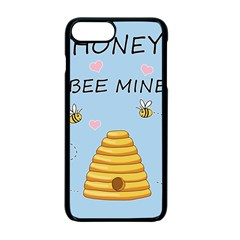 Bee Mine Valentines Day Apple Iphone 7 Plus Seamless Case (black) by Valentinaart