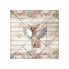 Vintage Chihuahua   Valentines Day Acrylic Tangram Puzzle (4  X 4 ) by Valentinaart