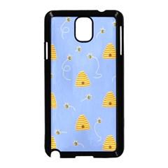 Bee Pattern Samsung Galaxy Note 3 Neo Hardshell Case (black) by Valentinaart
