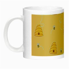 Bee Pattern Night Luminous Mugs by Valentinaart