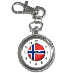 Norway Country Nation Blue Symbol Key Chain Watches by Nexatart