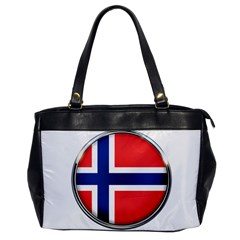 Norway Country Nation Blue Symbol Office Handbags by Nexatart