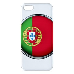 Portugal Flag Country Nation Apple Iphone 5 Premium Hardshell Case by Nexatart
