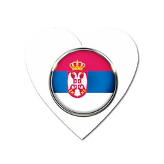 Serbia Flag Icon Europe National Heart Magnet by Nexatart
