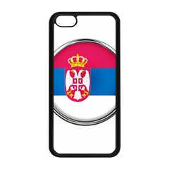 Serbia Flag Icon Europe National Apple Iphone 5c Seamless Case (black) by Nexatart