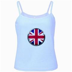 United Kingdom Country Nation Flag Baby Blue Spaghetti Tank by Nexatart