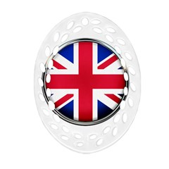 United Kingdom Country Nation Flag Oval Filigree Ornament (two Sides) by Nexatart