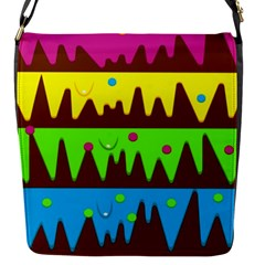 Illustration Abstract Graphic Flap Messenger Bag (s) by Nexatart