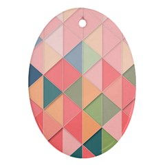 Background Geometric Triangle Ornament (oval) by Nexatart
