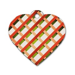 Wallpaper Creative Design Dog Tag Heart (one Side) by Nexatart