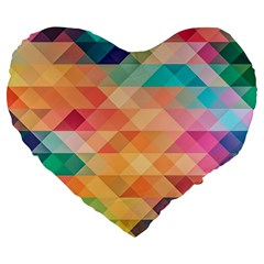 Texture Background Squares Tile Large 19  Premium Heart Shape Cushions by Nexatart