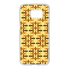 Ethnic Traditional Vintage Background Abstract Samsung Galaxy S7 Edge White Seamless Case by Nexatart