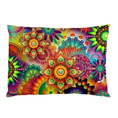 Colorful Abstract Background Colorful Pillow Case by Nexatart
