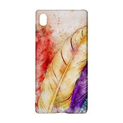 Feathers Bird Animal Art Abstract Sony Xperia Z3+ by Nexatart