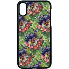 Background Square Flower Vintage Apple Iphone X Seamless Case (black) by Nexatart