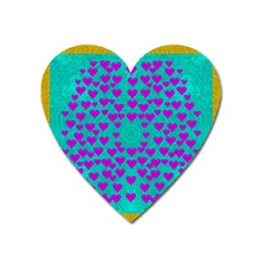 Raining Love And Hearts In The  Wonderful Sky Heart Magnet by pepitasart