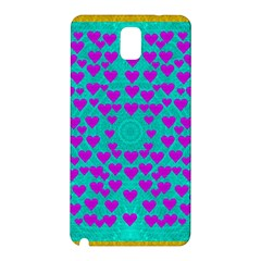Raining Love And Hearts In The  Wonderful Sky Samsung Galaxy Note 3 N9005 Hardshell Back Case by pepitasart