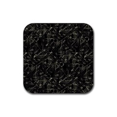 Abstract Collage Patchwork Pattern Rubber Coaster (square)  by dflcprints