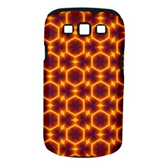 Black And Orange Diamond Pattern Samsung Galaxy S Iii Classic Hardshell Case (pc+silicone) by Fractalsandkaleidoscopes