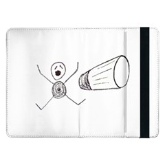 Violence Concept Drawing Illustration Small Samsung Galaxy Tab Pro 12 2  Flip Case by dflcprints