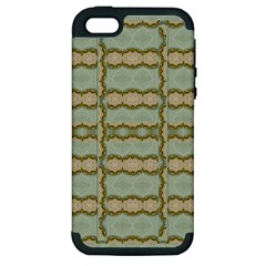 Celtic Wood Knots In Decorative Gold Apple Iphone 5 Hardshell Case (pc+silicone) by pepitasart