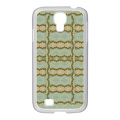 Celtic Wood Knots In Decorative Gold Samsung Galaxy S4 I9500/ I9505 Case (white) by pepitasart