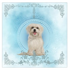 Cute Little Havanese Puppy Large Satin Scarf (square) by FantasyWorld7