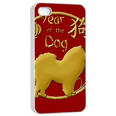 Year Of The Dog   Chinese New Year Apple Iphone 4/4s Seamless Case (white) by Valentinaart
