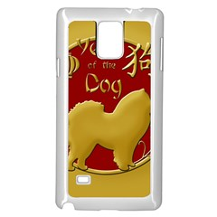Year Of The Dog   Chinese New Year Samsung Galaxy Note 4 Case (white) by Valentinaart