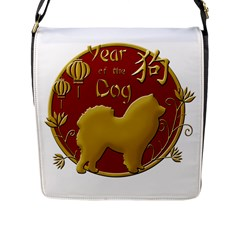 Year Of The Dog   Chinese New Year Flap Messenger Bag (l)  by Valentinaart