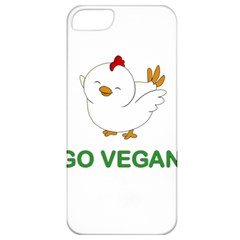 Go Vegan   Cute Chick  Apple Iphone 5 Classic Hardshell Case by Valentinaart