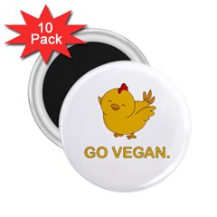 Go Vegan   Cute Chick  2 25  Magnets (10 Pack)  by Valentinaart