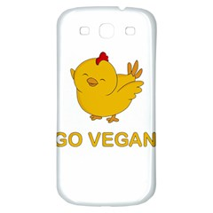 Go Vegan   Cute Chick  Samsung Galaxy S3 S Iii Classic Hardshell Back Case by Valentinaart