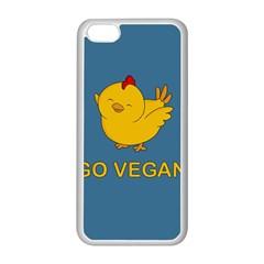Go Vegan   Cute Chick  Apple Iphone 5c Seamless Case (white) by Valentinaart