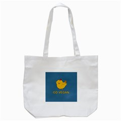 Go Vegan   Cute Chick  Tote Bag (white) by Valentinaart