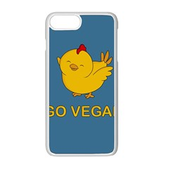 Go Vegan   Cute Chick  Apple Iphone 8 Plus Seamless Case (white) by Valentinaart