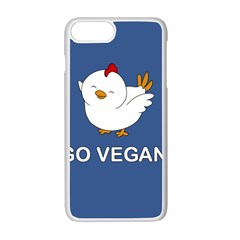 Go Vegan   Cute Chick  Apple Iphone 7 Plus Seamless Case (white) by Valentinaart