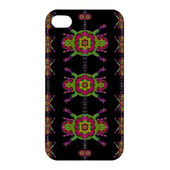Paradise Flowers In A Decorative Jungle Apple Iphone 4/4s Hardshell Case by pepitasart