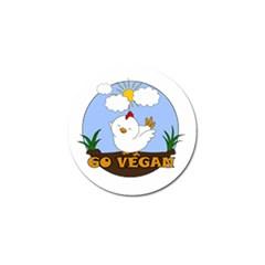 Go Vegan   Cute Chick  Golf Ball Marker (10 Pack) by Valentinaart
