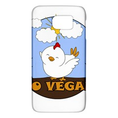 Go Vegan   Cute Chick  Galaxy S6 by Valentinaart