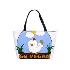 Go Vegan   Cute Chick  Shoulder Handbags by Valentinaart