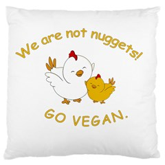 Go Vegan   Cute Chick  Large Cushion Case (one Side) by Valentinaart