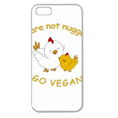 Go Vegan   Cute Chick  Apple Seamless Iphone 5 Case (clear) by Valentinaart