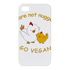 Go Vegan   Cute Chick  Apple Iphone 4/4s Hardshell Case by Valentinaart