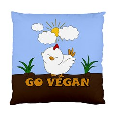 Go Vegan   Cute Chick  Standard Cushion Case (one Side) by Valentinaart