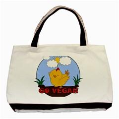 Go Vegan   Cute Chick  Basic Tote Bag by Valentinaart