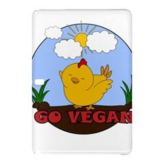 Go Vegan   Cute Chick  Samsung Galaxy Tab Pro 12 2 Hardshell Case by Valentinaart