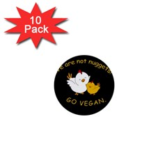 Go Vegan   Cute Chick  1  Mini Buttons (10 Pack)  by Valentinaart